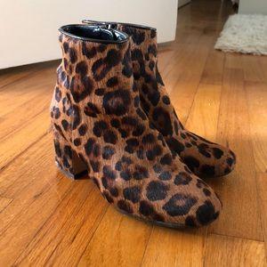 ZARA leopard print boots